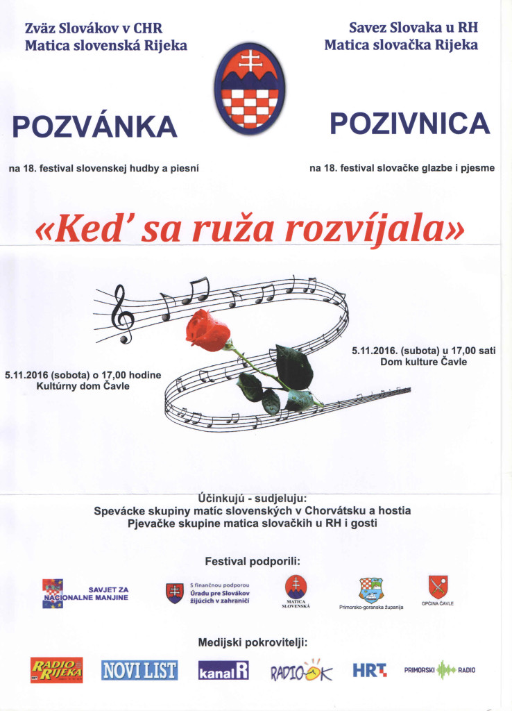 KEĎ SA RUŽA ROZVÍJALA @ SAVEZ SLOVAKA U RH I MATICA SLOVAČKA RIJEKA | Čavle | Primorsko-goranska županija | Hrvatska