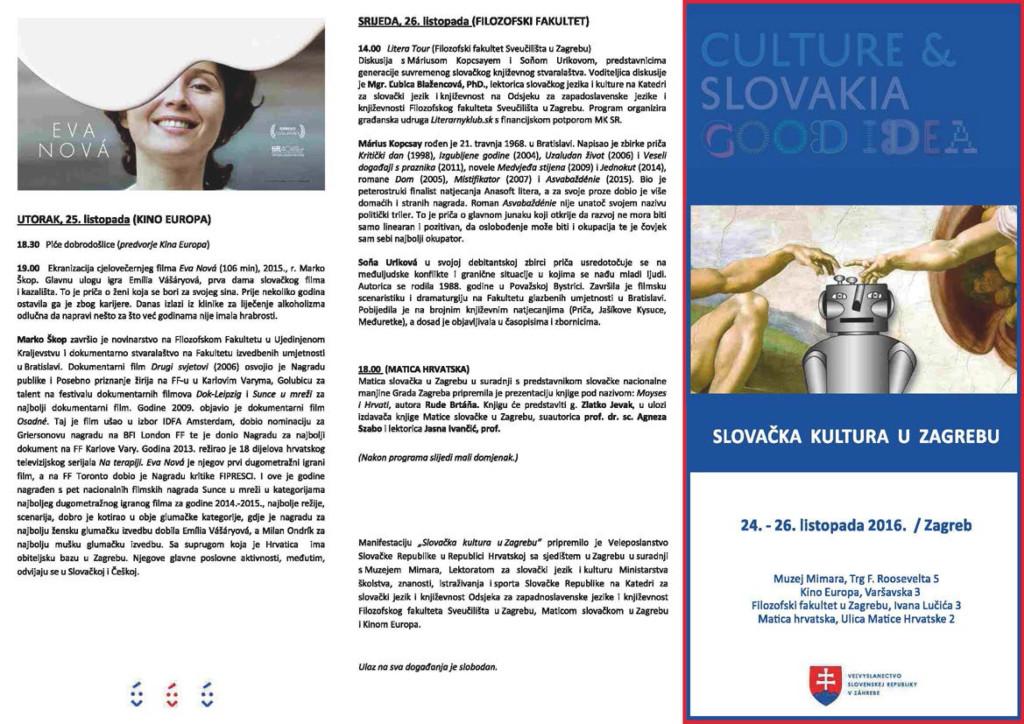 SLOVAČKA KULTURA U ZAGREBU @ Zagreb | Grad Zagreb | Hrvatska