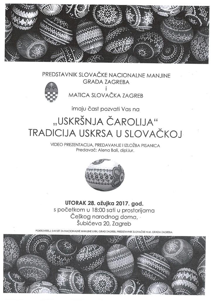 """""""Uskršnja čarolija"""" tradicija Uskrsa u Slovačkoj @ PREDSTAVNIK SLOVAČKE NACIONALNE MANJINE GRADA ZAGREBA I MATICA SLOVAČKA ZAGREB   Zagreb   Hrvatska"""
