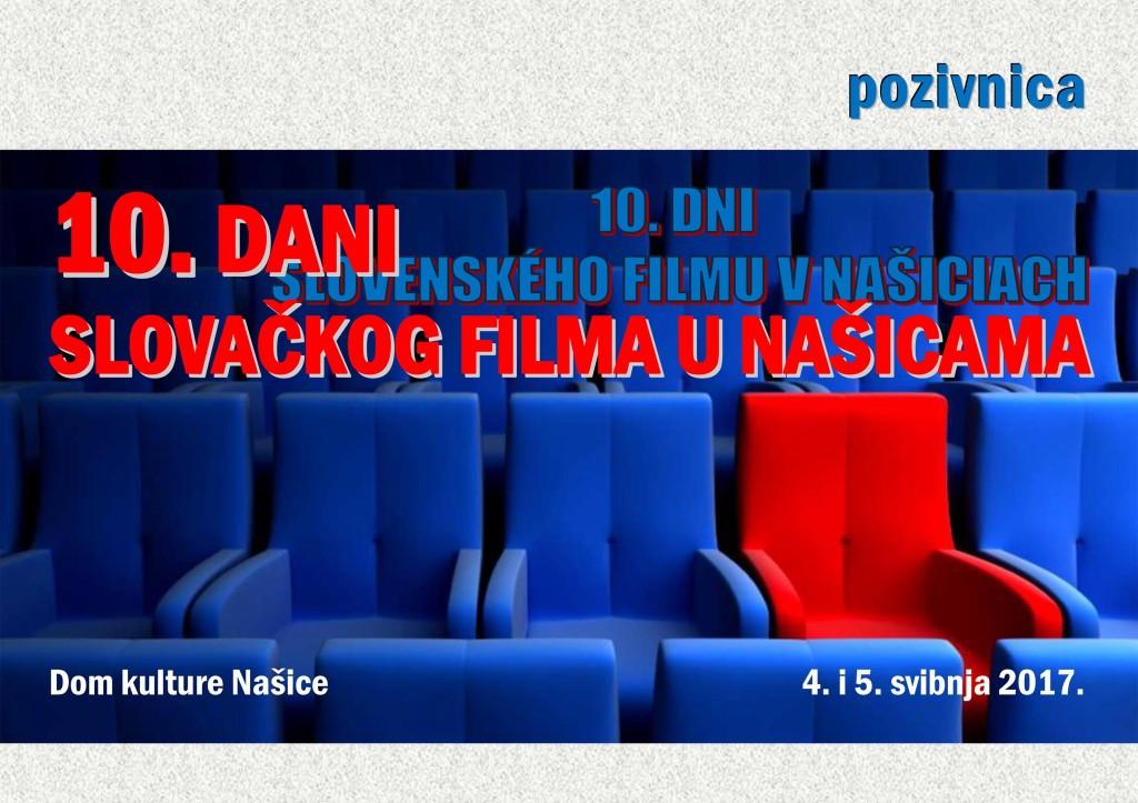 DANI SLOVAČKOG FILMA U NAŠICAMA @ SREDIŠNJA KNJIŽNICA SLOVAKA U RH | Našice | Osječko-baranjska županija | Hrvatska