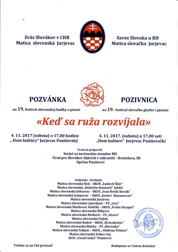 KEĎ SA RUŽA ROZVÍJALA @ SAVEZ SLOVAKA U RH I MATICA SLOVAČKA JURJEVAC | Jurjevac Punitovački | Osječko-baranjska županija | Hrvatska