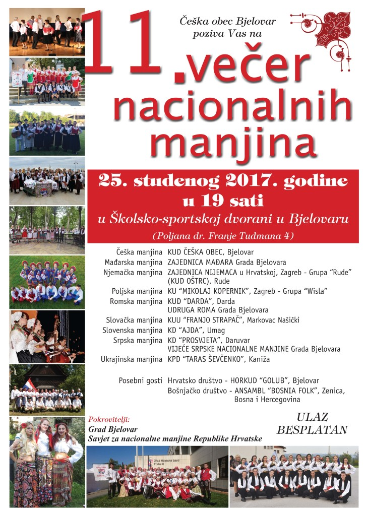 VEČER NACIONALNIH MANJINA @ ČEŠKA OBEC BJELOVAR | Bjelovar | Bjelovarsko-bilogorska županija | Hrvatska
