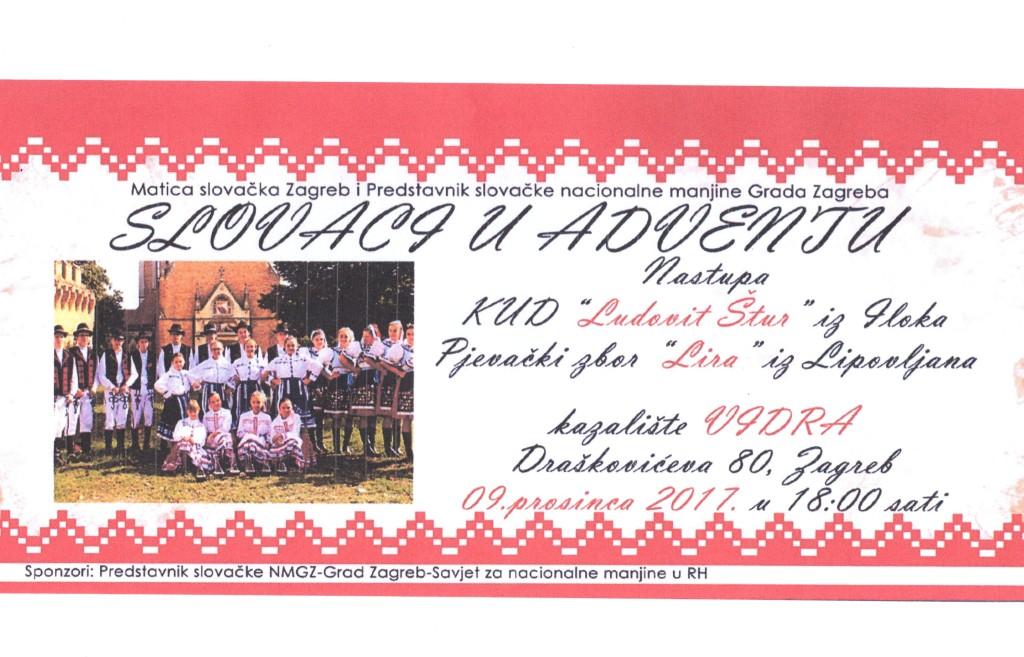 SLOVACI U ADVENTU @ MATICA SLOVAČKA ZAGREB I PREDSTAVNIK SLOVAČKE NACIONALNE MANJINE GRADA ZAGREBA   Zagreb   Hrvatska