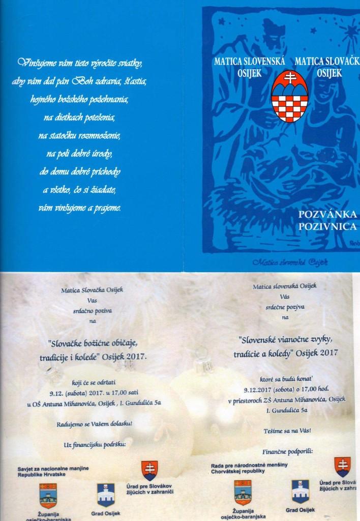 SLOVENSKÉ VIANOČNE ZVYKY, TRADICIE A KOLEDY, OSIJEK 2017 @ MATICA SLOVENSKÁ OSIJEK   Osijek   Osječko-baranjska županija   Hrvatska