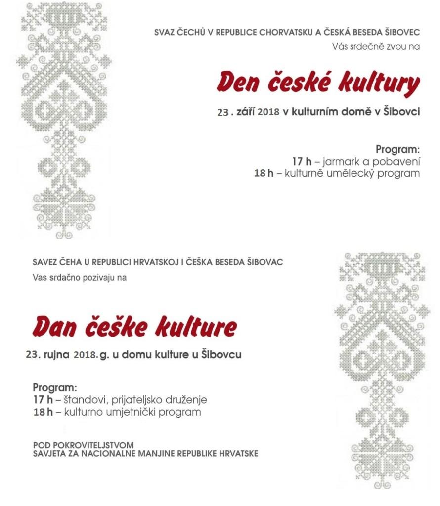 Den české kultury v Šibovci @ SVAZ ČECHŮ V RCH A ČESKÁ BESEDA ŠIBOVEC | Šibovac | Bjelovarsko-bilogorska županija | Hrvatska