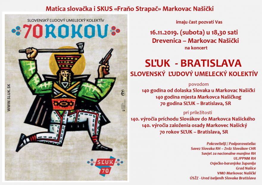 """KONCERT - SL´UK, BRATISLAVA @ MATICA SLOVAČKA I SKUS """"FRAŇO STRAPAČ"""" MARKOVAC NAŠIČKI"""